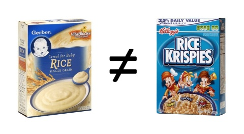Rice Cereal Vs. Rice Krispies