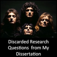 Discarded Research Questions from My Dissertation: A Non-Exhaustive List