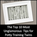 The Top 10 Most Unglamorous Tips for Potty Training Twins