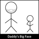 Daddy's Big Face