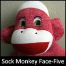 Sock Monkey Face-Five