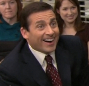 Michael Scott Laughing