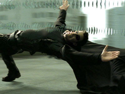 Neo dodges bullets in the only good Matrix film.