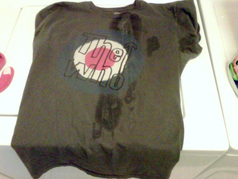 My Who Shirt + My Son's Vomit