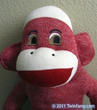 Pink Sock Monkey