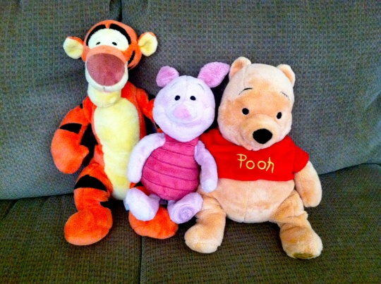 Piglet, Pooh, and Tigger - My Daughter's Bedtime Crew