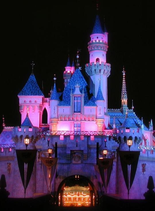 Disneyland - Sleeping Beauty Castle at Night