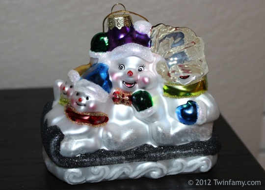 The Very Special Pseudonymous Snowman Family Ornament