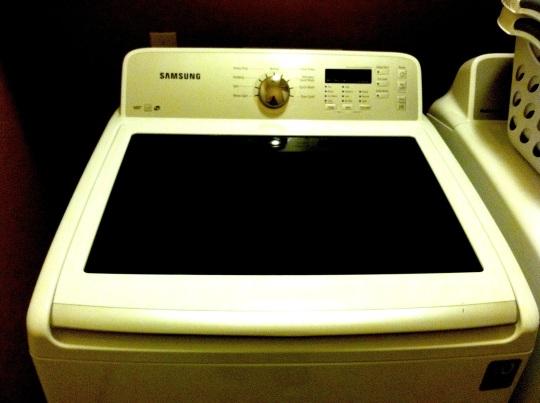 My washing machine needs potty training