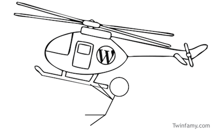 Twinfamy WordPress Helicopter