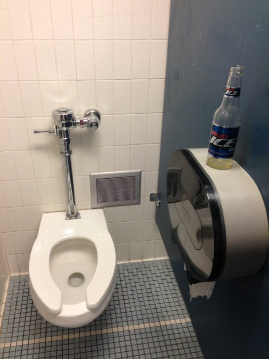 Beer in the Bathroom Stall