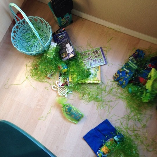 Demolished Easter Basket