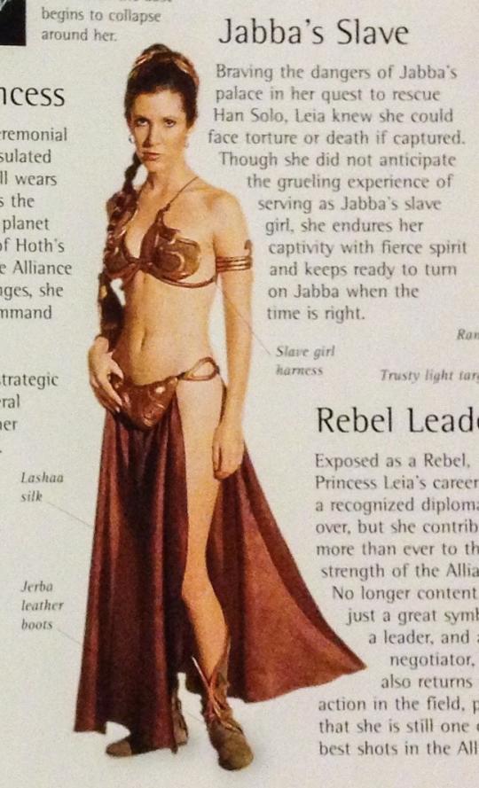 Princess Leia as Jabba's Prisoner